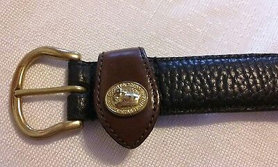 Ladies Vintage Size Small Black Dooney And Bourke pebble Leather Belt
