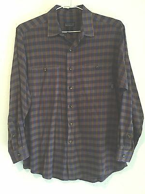 MEN'S Patagonia Organic Cotton Button Front Long Sleeve Shirt Size Small