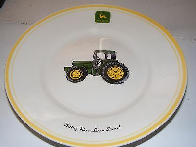 Lot Of 2 John Deere Plates Gibson Jd Tractor 8.75""