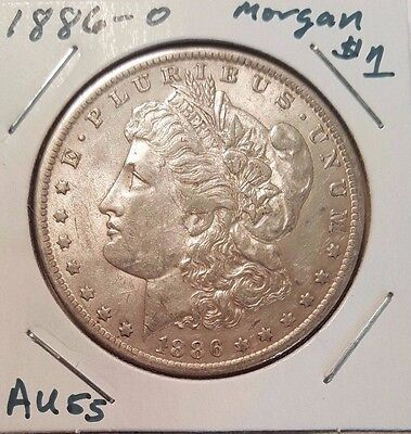 1886-O $1 Morgan Silver Dollar - Very Nice About Uncirculated (AU) coin.
