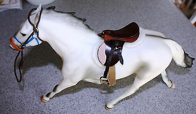 BEAUTIFUL Leather Saddle & Halter Traditional Classic AUTHENTIC BREYER English