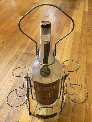 Vintage Geo A Dickels Cascade Distillery Whisky Bottle And Decanter Set Rare!