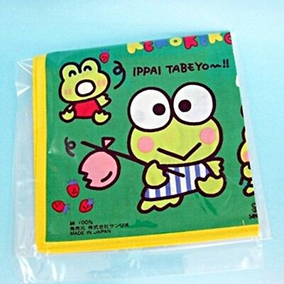Sanrio Keroppi Cotton Lunch Cloth 28 x 28cm Made in Japan