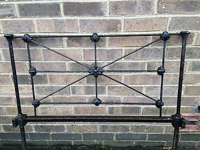 Cast Iron Single Victorian Bed Head And Foote