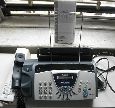 Brother FAX-575 Personal Fax Phone and Copier with Roll of fax Paper & Inst