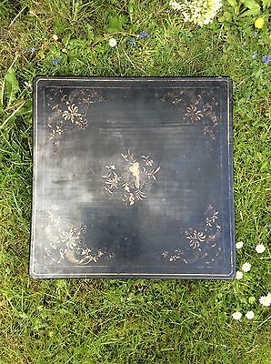 An Oriental Lacquered Wooden Kimono Box With Bee