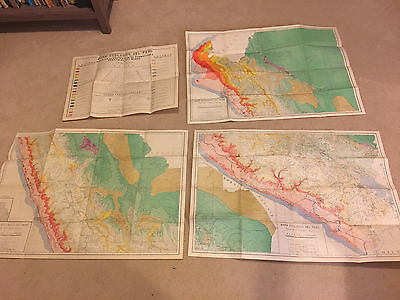 Ecology map of Peru, 1963. 3 folded sheets + legend. Mapa ecológica del Peru