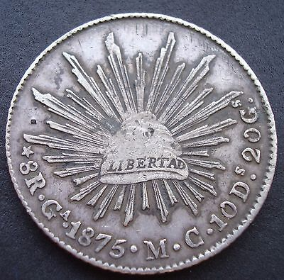 Mexico 8 Reales Ca Silver.1875 M.C please see the coin.