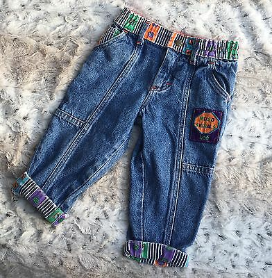 Vintage Kids Lee Jeans Mixed Signals 24 Month Union Made Baby Toddler Pants