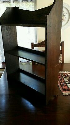 Vintage Oak Bookcase With Cock Beading