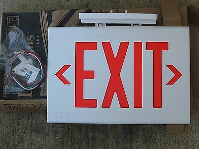 DUAL LIGHT RED LED  HUBBELL  Emergency Exit Light Sign -