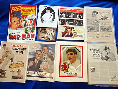 Vintage Lot Of Yankee Ads  Dimaggio  Mantle  Dickey  Mize