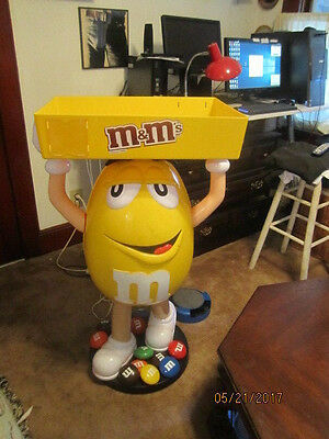 Yellow M&M Candy Character Advertising Store Display