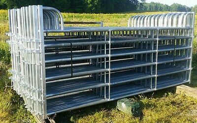 Galvanized 12 foot Corral Panel Heavy Duty 16 gauge 2 inch sides and round bars