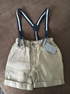 Baby boys shorts with braces size 6-9 months