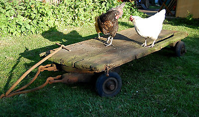 Original Vintage Industrial Railway Trolley Cart Coffee Table Base Garden Market