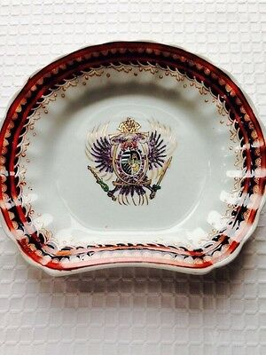 Antique Chinese Export Famille Rose Armorial Porcelain Dish