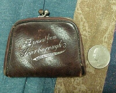 vintage coin purse made in prussia