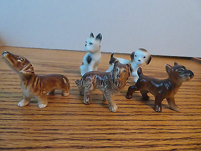 Vintage Dog figurines, lot of 5