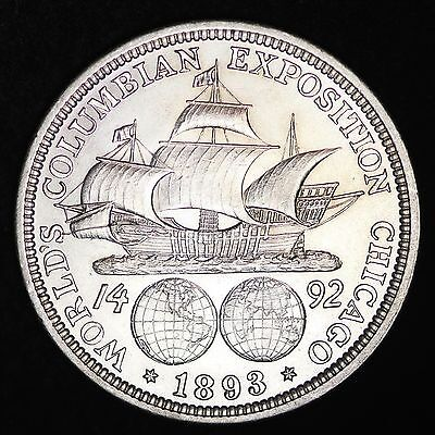 UNCIRCULATED 1893 Columbian Exposition Silver Half Dollar FREE SHIPPING!