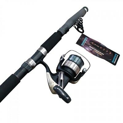 Shimano 8 Foot Telescopic Fishing Rod with Shimano Hyperloop 6000 Reel