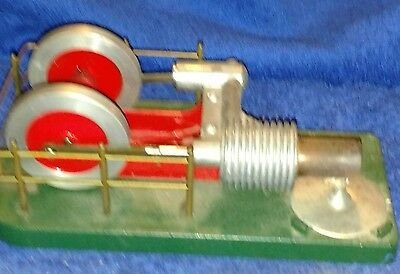 Vintage Hot Air Engine and Flywheel Assembly Machined