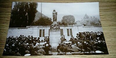 Unveiling Alloa War Memorial Earl Haig Postcard Un-posted