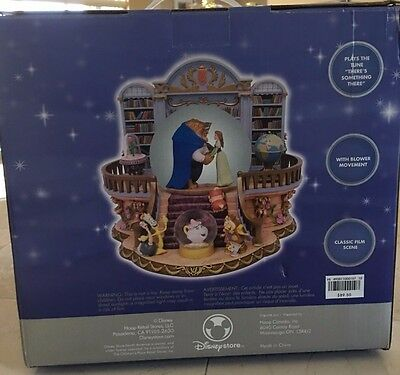 "NEW Disney's ""Beauty And The Beast"" Rare Library Musical Snowglobe"