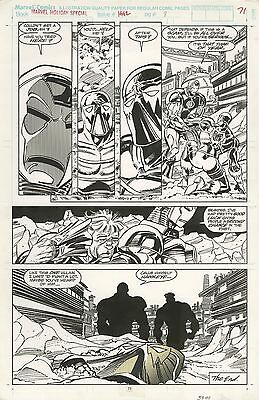 Marvel Holiday Special Page 71 Iron Man Original Art 1/1 Super Nice Steal