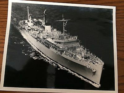 "Vintage Black and White 8"" x 10"" Photograph of unknown Naval vessel"
