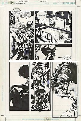Dc Batman Family #7 Page 20 Awesome Nightwing & Batgirl Original Art 1/1 Steal