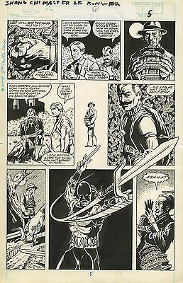 Marvel Master Of Kung Fu: Bleeding Black #1 Page 5 & 6 Original Art 1/1 Steal