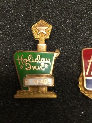 Vintage Holiday Inn Hotel 5 Years Service employee advertising pin