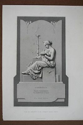 Grabmal mit Figur und Harfe, In Remembrance of Allan Cunningham The Biographer o