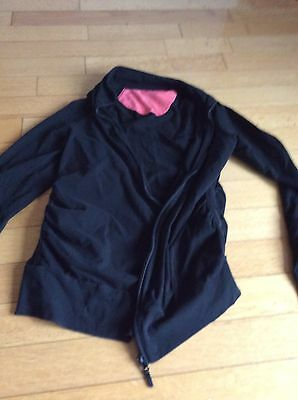 Liz Lange Maternity Yoga Jacket Sweatshirt Black Medium ��