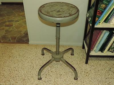 Vintage Industrial Stool Ajusto Equipment Co. Steel Adjustable Lab Steampunk