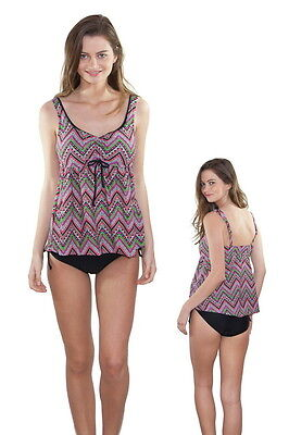 2Sea Swimwear 2S7YT01 Maternity Shoulder Strap Tankini With Cover Tummy Bottom
