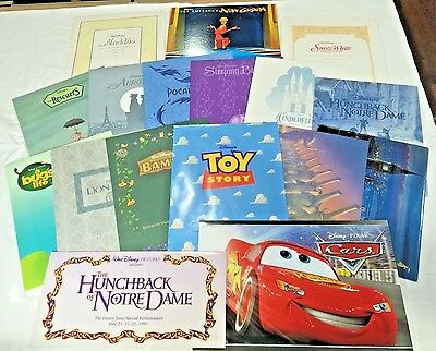Huge lot of 27 Disney Store lithographs: Snow White, Toy Story, Cars, Aladdin