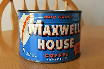 VINTAGE MAXWELL HOUSE COFFEE TIN 1 Lb. FULL SEALED and UNOPENED W/KEY