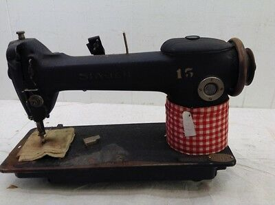 Vintage Heavy Duty Industrial Singer Sewing Machine Leather Workers