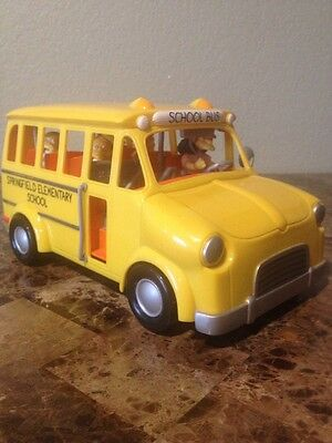The Simpsons Talking Elementary School Bus World of Springfield Playmates 2002
