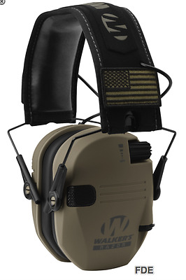 Walker's Walkers Patriot Series Slim Shooter Electronic Muffs Fde