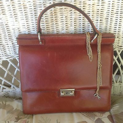 Vintage Jackie O.Style W. GERMANY Made Espressly for Mercedes Leather Bag/Purse