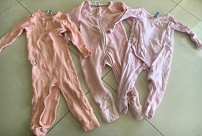 Bonds Long Suits X3 Size 0 Pink Girls