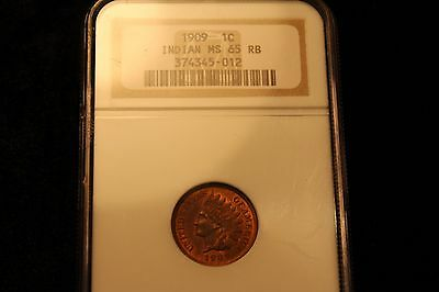 1909 Indian Head Cent NGC MS65RB