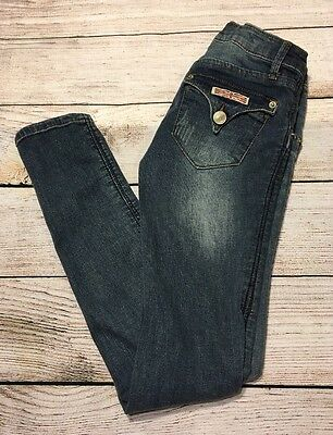 Girls HUDSON Skinny Jeans  Size 8 Flap Pockets Denim Kids Jegging