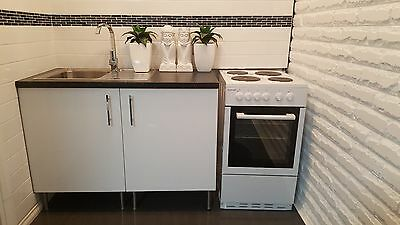 Euromaid - 50cm Electric Freestanding Cooker Oven stove White EW50