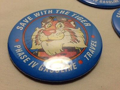 "Circa Early 1990's Exxon 3"" ""save With The Tiger"" Promo Button-Phase IV Gasoline"