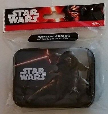 Disney Star Wars Kylo Ren Traveling Collector Tin 30ct Cotton Swabs reusable tin