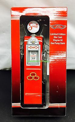 Vintage 1940 Gas Pump Bank Die Cast Replica Wayne 60 With State Farm Logo